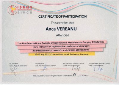 Diploma - New Frontieres in regenerativ medicine in surgery