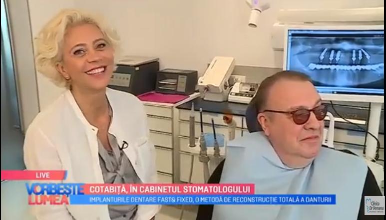 Interviu: Dr. Anca Vereanu- implanturi si coroane intr-o zi pt Gabriel Cotabita, Pro TV