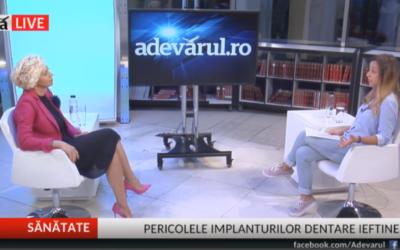 Interviu: Dr. Anca Vereanu- Implantul dentar, Adevarul LIVE