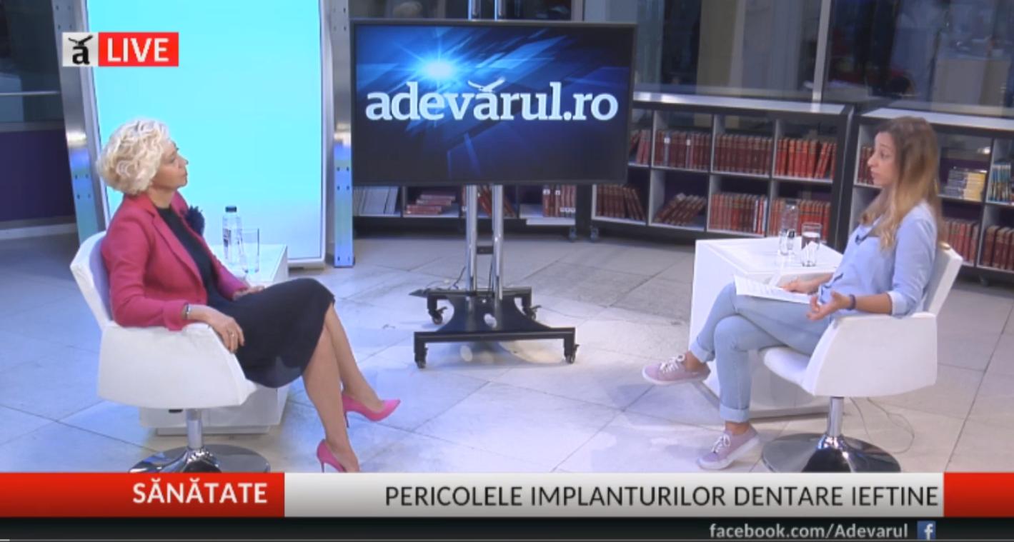 Dr. Anca Vereanu- Implantul dentar, Adevarul LIVE