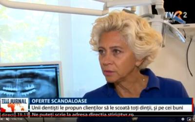 """Interviu: Dr. Anca Vereanu-procedura """"Dinti intr-o zi"""" – Stiri TVR"""