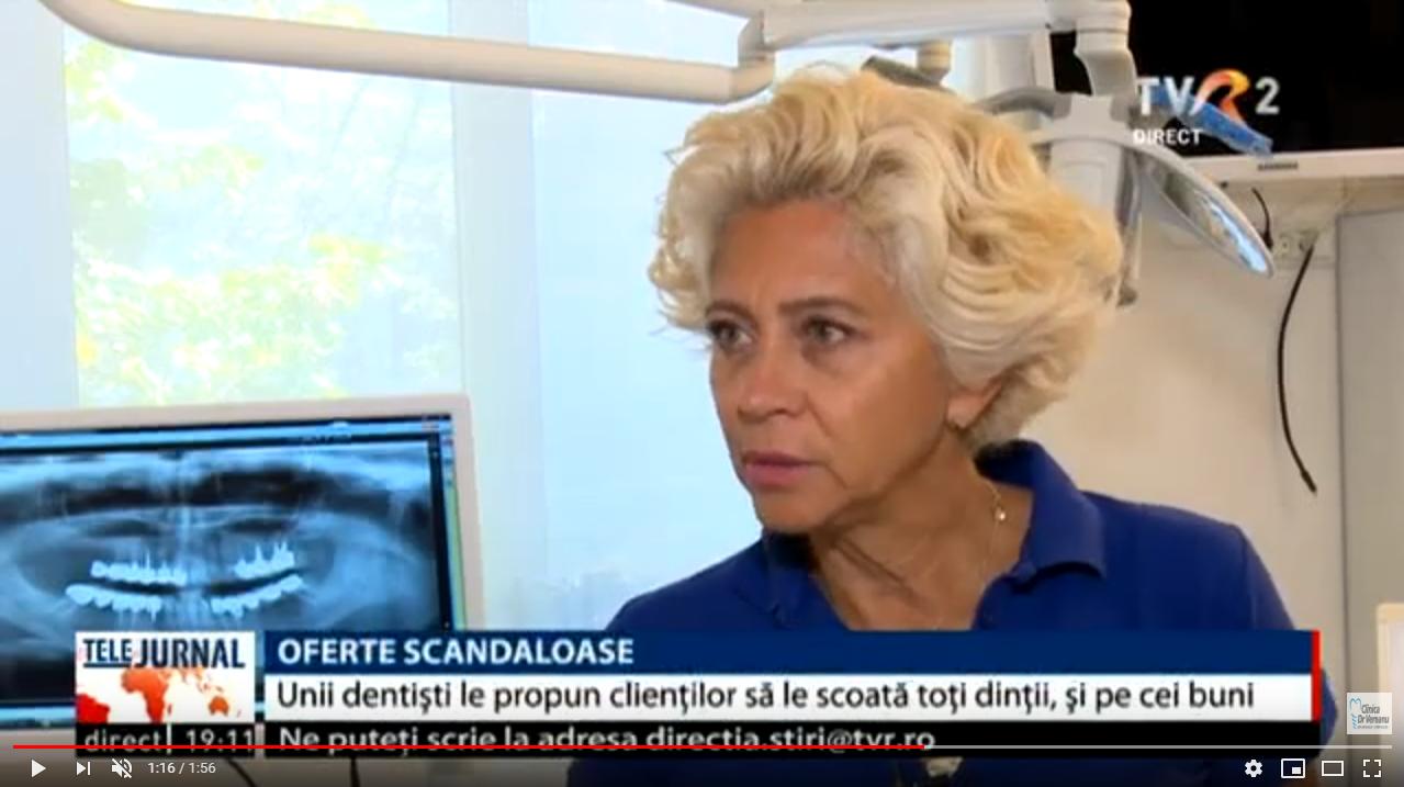Dr Anca Vereanu-procedura - Dinti intr-o zi-Stiri TVR